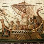 Ulysse et les Sirènes, mosaïque, musée du Bardo, Tunisie
