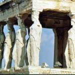 L'Acropole à Athènes (les Caryatides)