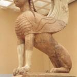 Delphes, le musée : Sphinx ailé