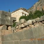 Au pied du temple d'Apollon