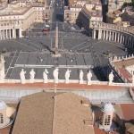 La Place St Pierre depuis le Dôme de la Basilique